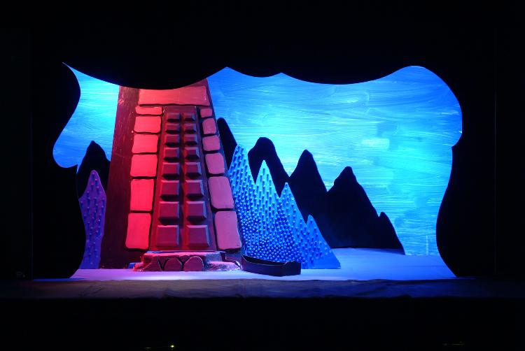 "Image of Island, 1 1/2"" Scale Model Act III, Scene II, Final Version from ""Die Frau Ohne Schatten"" (Alternate Lighting 1)"
