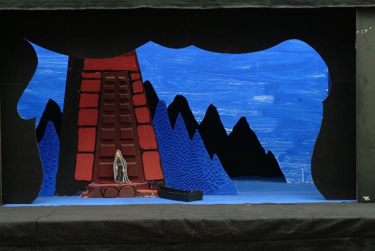 "Image of Island, 1 1/2"" Scale Model Act III, Scene II, Final Version from ""Die Frau Ohne Schatten"" (Alternate Lighting 2)"