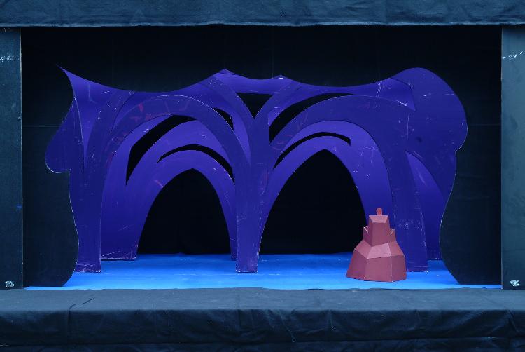 "Image of Palace Interior, 1 1/2"" Scale Model Act III, Scene III, Final Version from ""Die Frau Ohne Schatten"" (Alternate Lighting 1)"