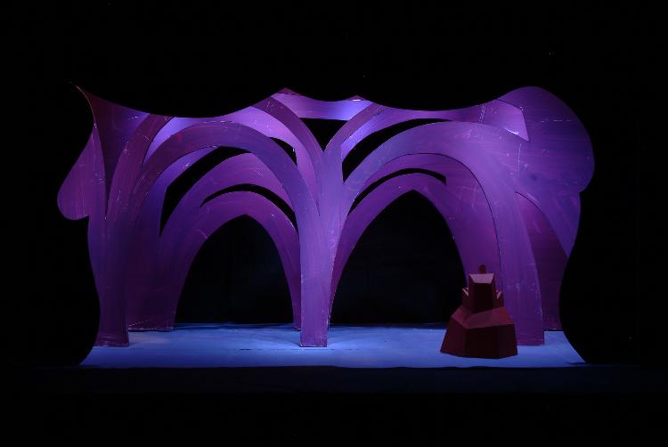 "Image of Palace Interior, 1 1/2"" Scale Model Act III, Scene III, Final Version from ""Die Frau Ohne Schatten"" (Alternate Lighting 2)"