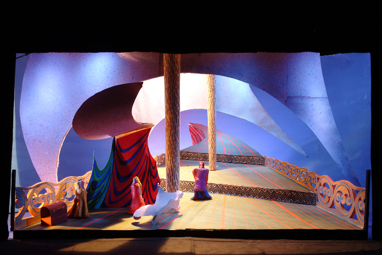 "Image of 1"" Scale Model, Act I, Final Version from ""Tristan Und Isolde"" (Alternate Lighting 1)"