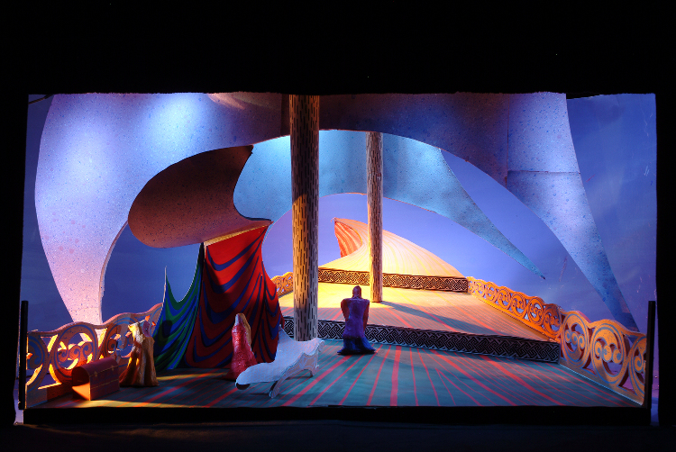"Image of 1"" Scale Model, Act I, Final Version from ""Tristan Und Isolde"" (Alternate Lighting 2)"