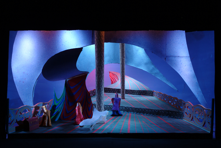 "Image of 1"" Scale Model, Act I, Final Version from ""Tristan Und Isolde"" (Alternate Lighting 3)"