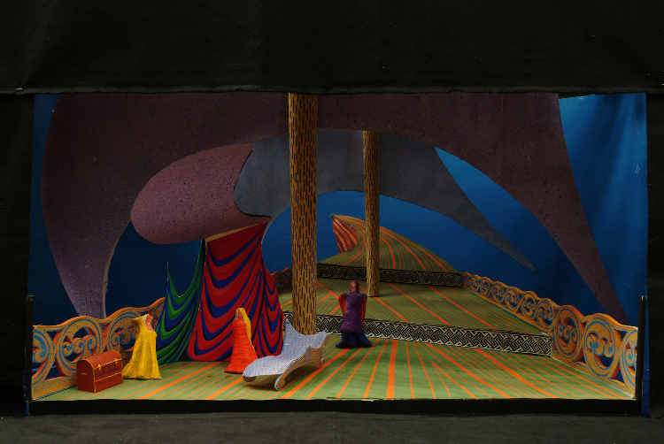 "Image of 1"" Scale Model, Act I, Final Version from ""Tristan Und Isolde"" (Alternate Lighting 4)"