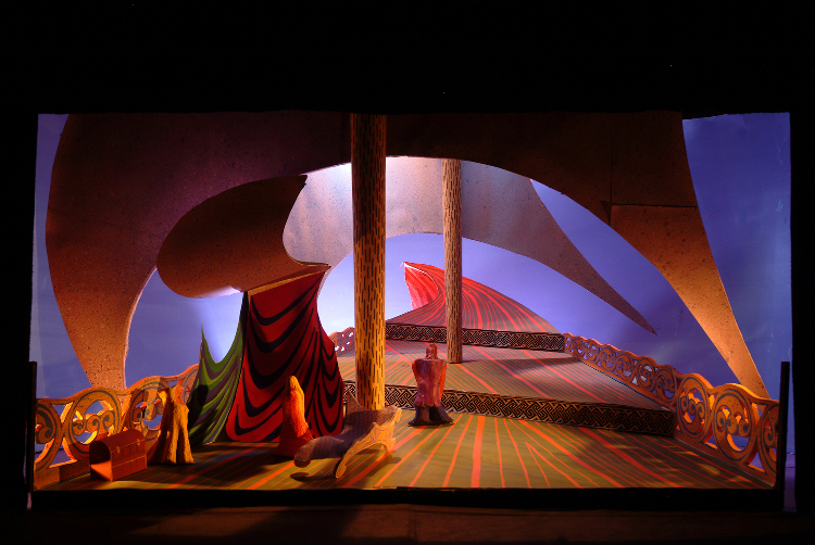 "Image of 1"" Scale Model, Act I, Final Version from ""Tristan Und Isolde"" (Alternate Lighting 5)"