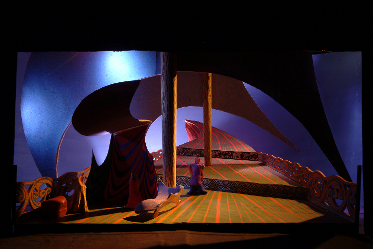"Image of 1"" Scale Model, Act I, Final Version from ""Tristan Und Isolde"" (Alternate Lighting 6)"