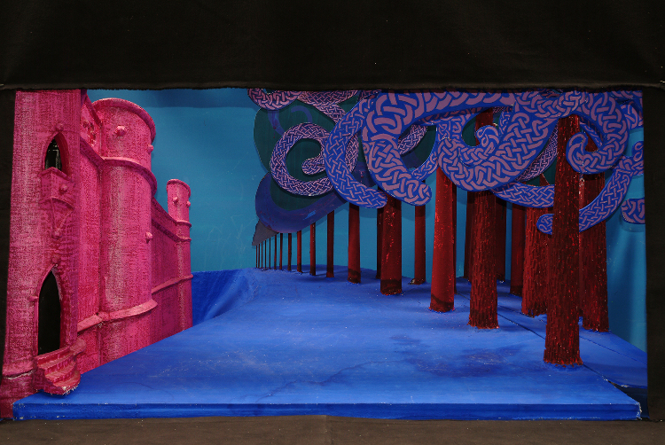 "Image of 1"" Scale Model, Act II, Final Version from ""Tristan Und Isolde"" (Alternate Lighting 1)"