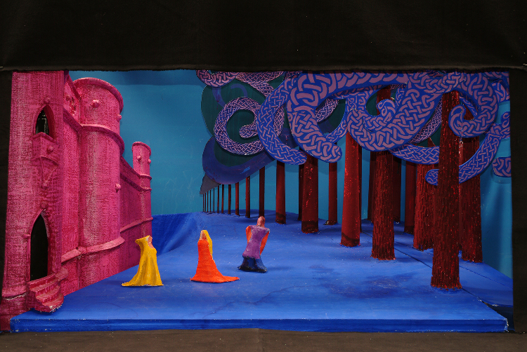 "Image of 1"" Scale Model, Act II, Final Version from ""Tristan Und Isolde"" (Alternate Lighting 2)"