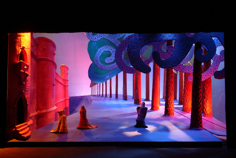 "Image of 1"" Scale Model, Act II, Final Version from ""Tristan Und Isolde"" (Alternate Lighting 3)"
