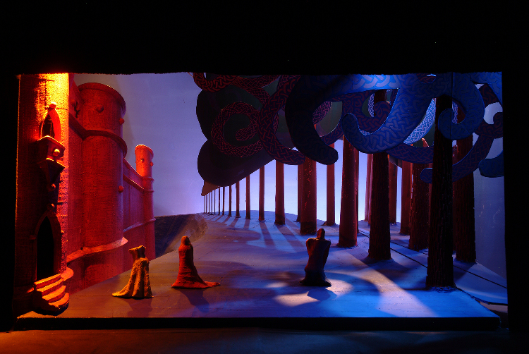 "Image of 1"" Scale Model, Act II, Final Version from ""Tristan Und Isolde"" (Alternate Lighting 4)"