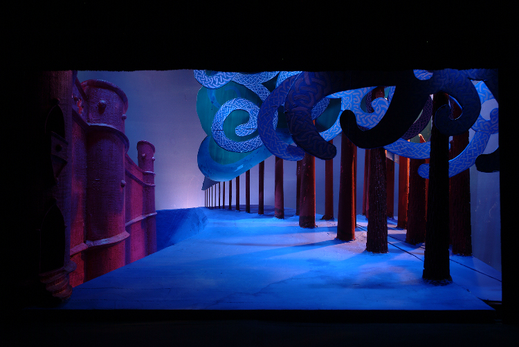 "Image of 1"" Scale Model, Act II, Final Version from ""Tristan Und Isolde"" (Alternate Lighting 5)"