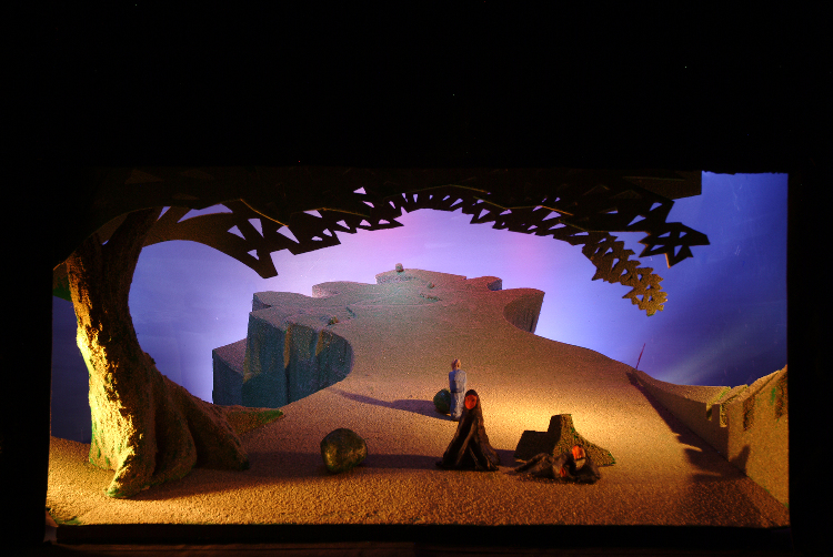 "Image of 1"" Scale model, Act III, Final Version from ""Tristan und Isolde"" (Alternate Lighting 2)"