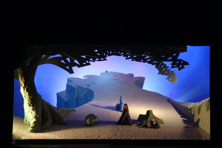 "Image of 1"" Scale model, Act III, Final Version from ""Tristan und Isolde"" (Alternate Lighting 3)"