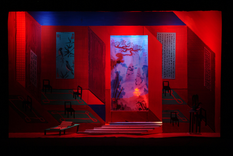"Image of Act II, Scene I, 1 1/2"" Scale Final Version from ""Turandot"" (Alternate Lighting 1)"