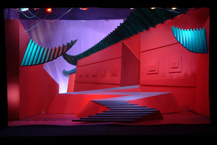 "Image of Act II, Scene II, 1/2"" Scale Model, Final Version from ""Turandot"" (Alternate Lighting 1)"