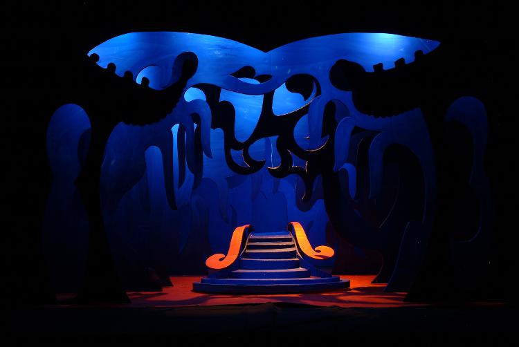 "Image of Act III, Scene I, 1 1/2"" Scale, Final Version from ""Turandot"" (Alternate Lighting 1)"