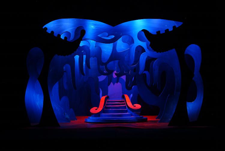 "Image of Act III, Scene I, 1 1/2"" Scale, Final Version from ""Turandot"" (Alternate Lighting 3)"