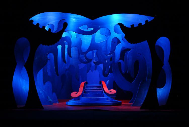 "Image of Act III, Scene I, 1 1/2"" Scale, Final Version from ""Turandot"" (Alternate Lighting 5)"