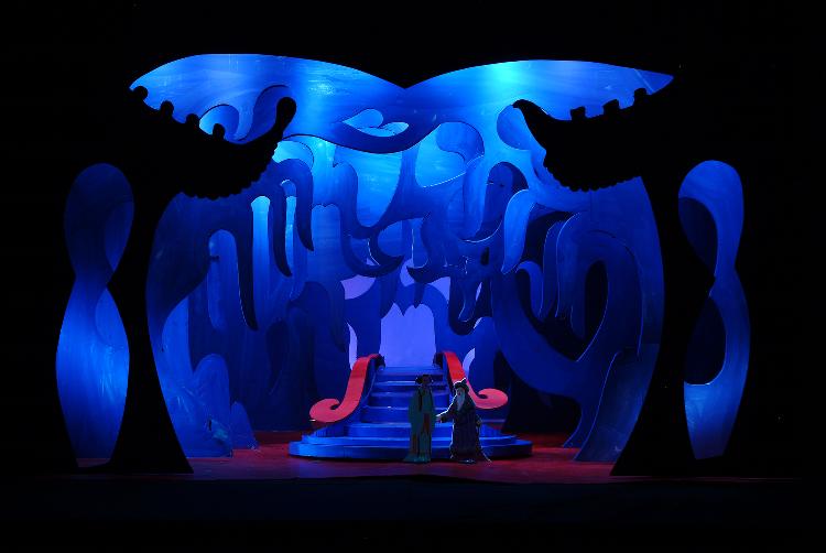 "Image of Act III, Scene I, 1 1/2"" Scale, Final Version from ""Turandot"" (Alternate Lighting 4)"
