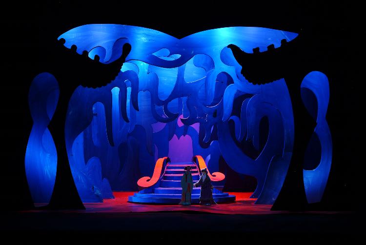 "Image of Act III, Scene I, 1 1/2"" Scale, Final Version from ""Turandot"" (Alternate Lighting 6)"