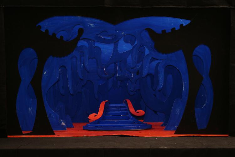 "Image of Act III, Scene I, 1 1/2"" Scale, Final Version from ""Turandot"" (Alternate Lighting 8)"