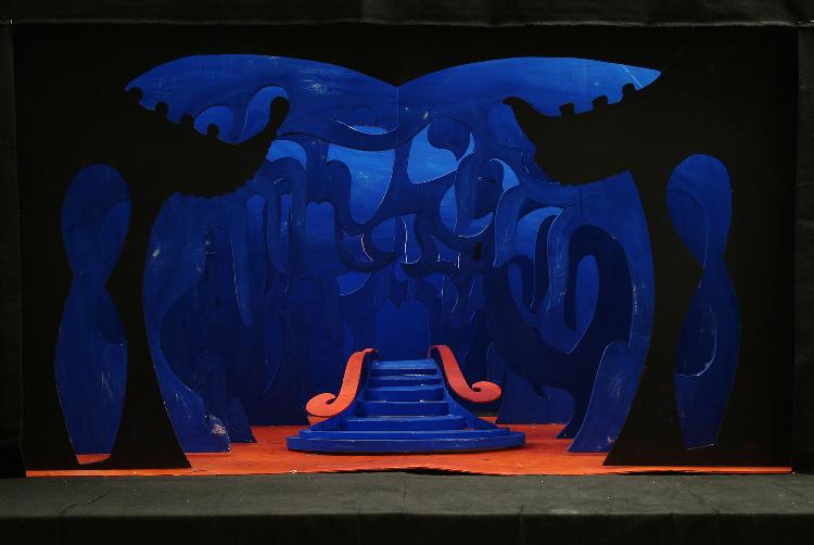 "Image of Act III, Scene I, 1 1/2"" Scale, Final Version from ""Turandot"" (Alternate Lighting 9)"