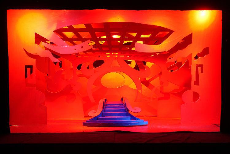 "Image of Act III, Scene II, 6 Drops in 1/2"" Scale Model, Final Version from ""Turandot"" (Alternate Lighting 2)"