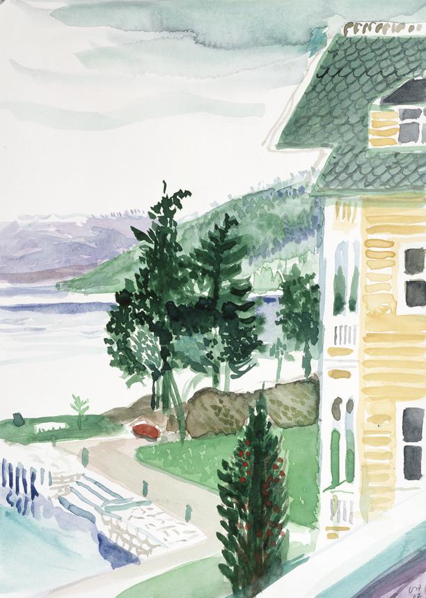 Image of Study for Kviknes Hotel. Balestrand.