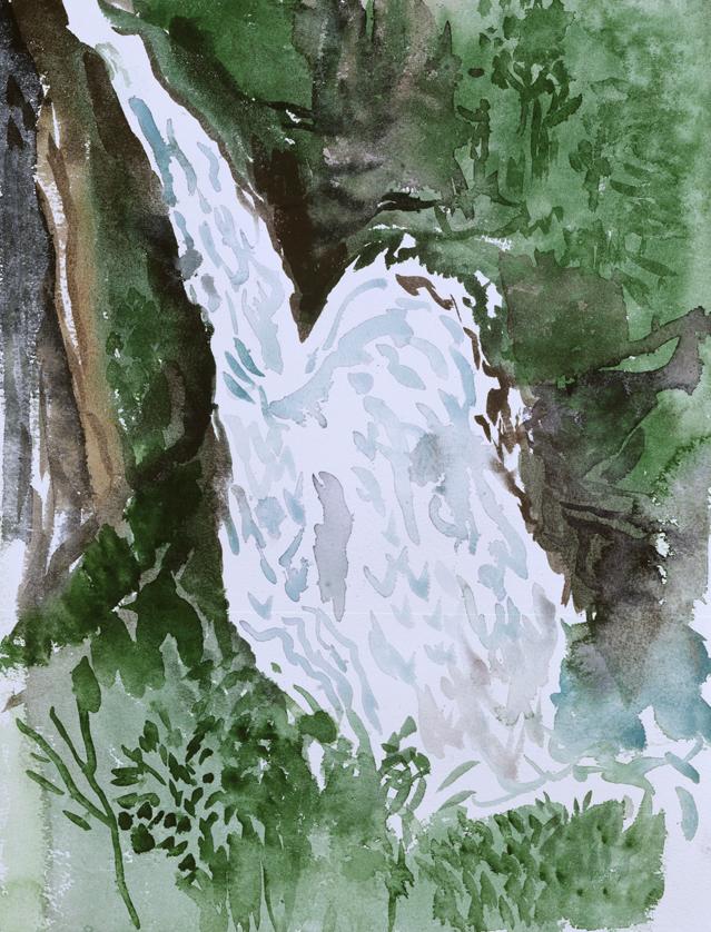 Image of Study of Waterfall. Stalheim