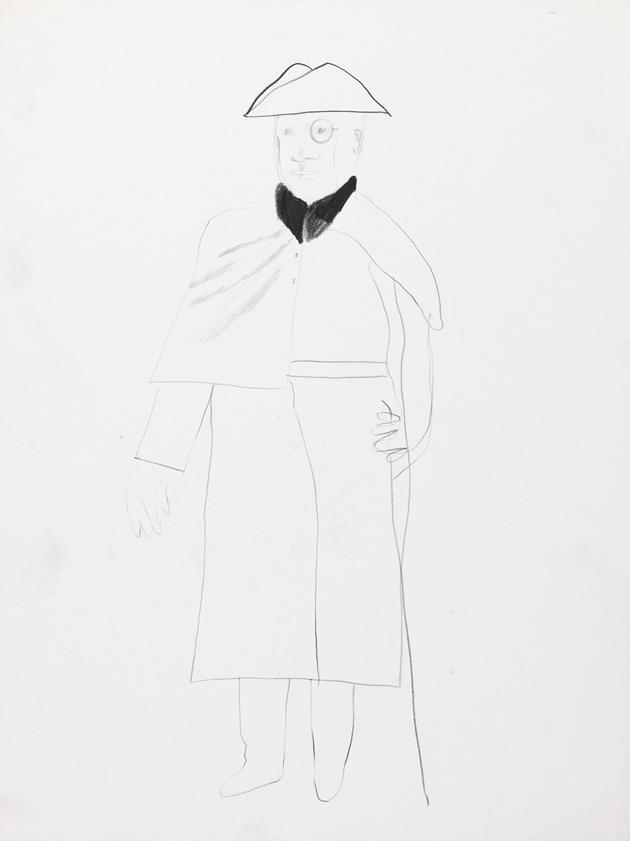 """Image of Costume Study from """"Ubu Roi"""""""
