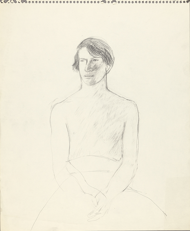 Image of Peter Seated. Half Nude