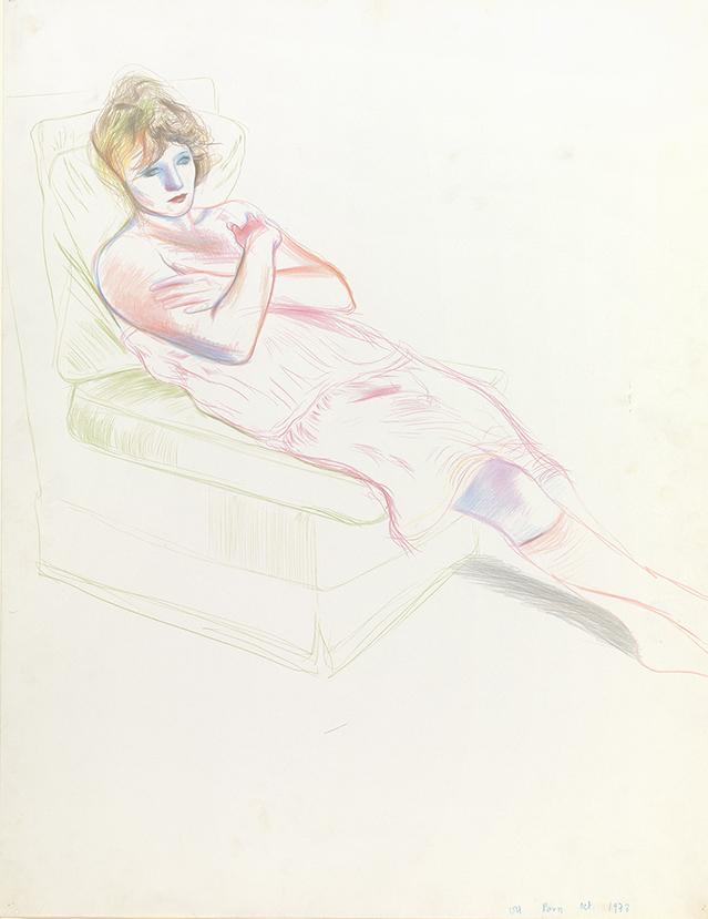 Image of Celia in a Pink Slip. Paris. Oct. 1973