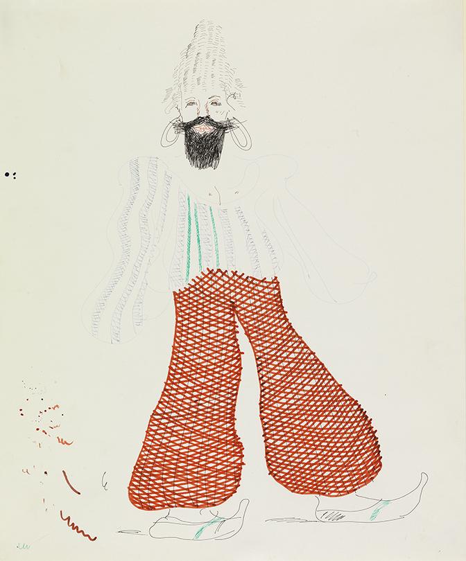 "Image of Baba - Red Pantaloons from ""The Rake's Progress"""