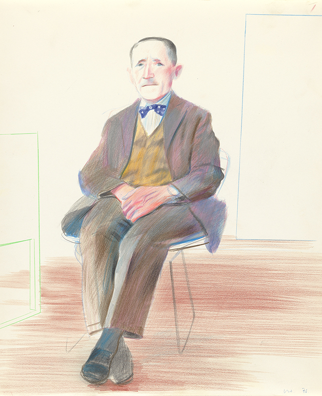 Image of Study of Artist's Father, for 'My Parents and Myself'