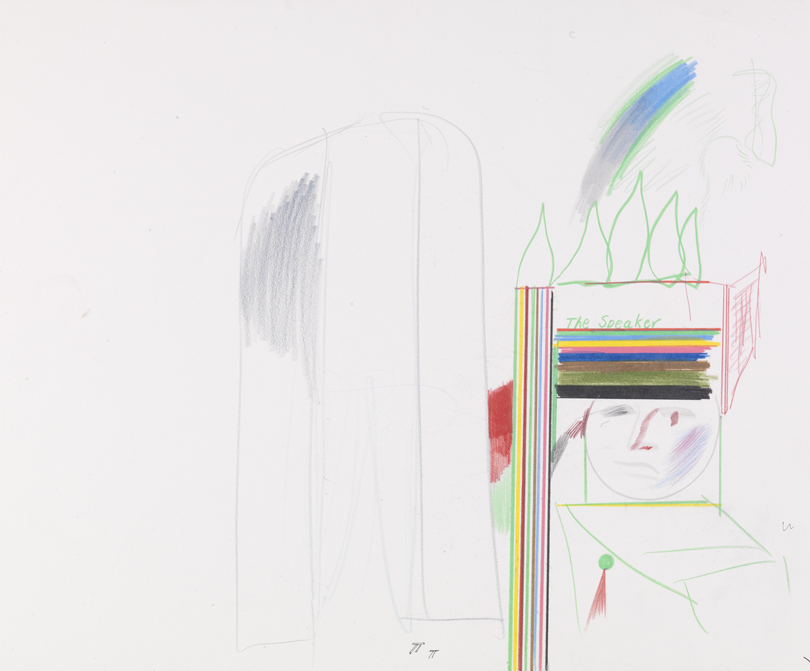 """Image of Study for the Speaker from """"The Magic Flute"""", 1977"""