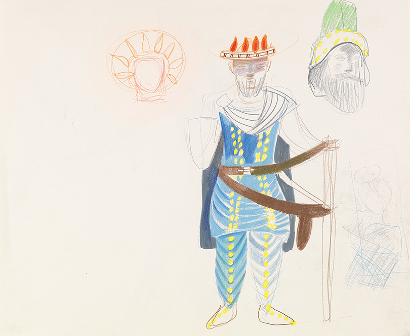 """Image of Study for Sarastro from """"The Magic Flute"""", 1977"""