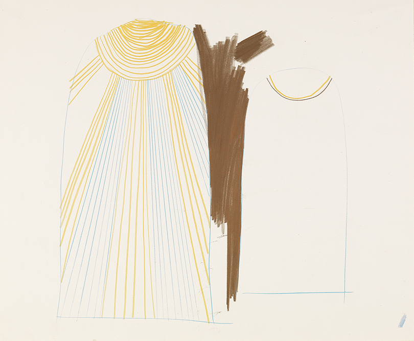 """Image of Study for Sarastro's Cloak from """"The Magic Flute"""", 1977"""