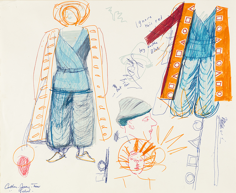 """Image of Study for Priests from """"The Magic Flute"""", 1977"""