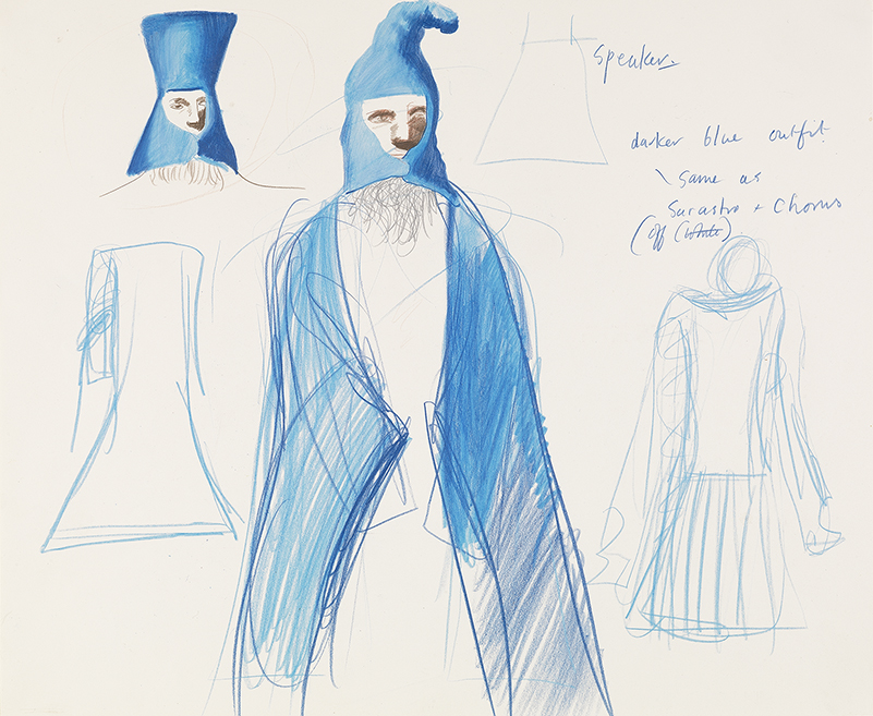 """Image of The Speaker from """"The Magic Flute"""", 1977"""