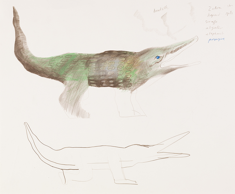 """Image of Crocodile from """"The Magic Flute"""", 1977"""