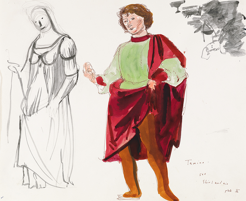 """Image of Tamino from """"The Magic Flute"""", 1977"""