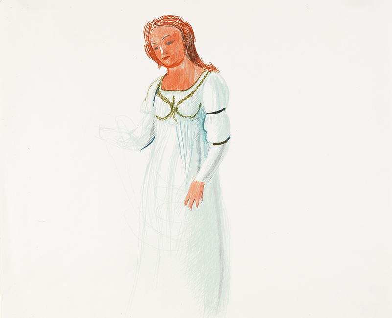 """Image of Pamina from """"The Magic Flute"""", 1977"""