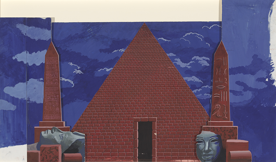 """Image of Act II, Scene II. Outside the Temple from """"The Magic Flute"""", 1977"""