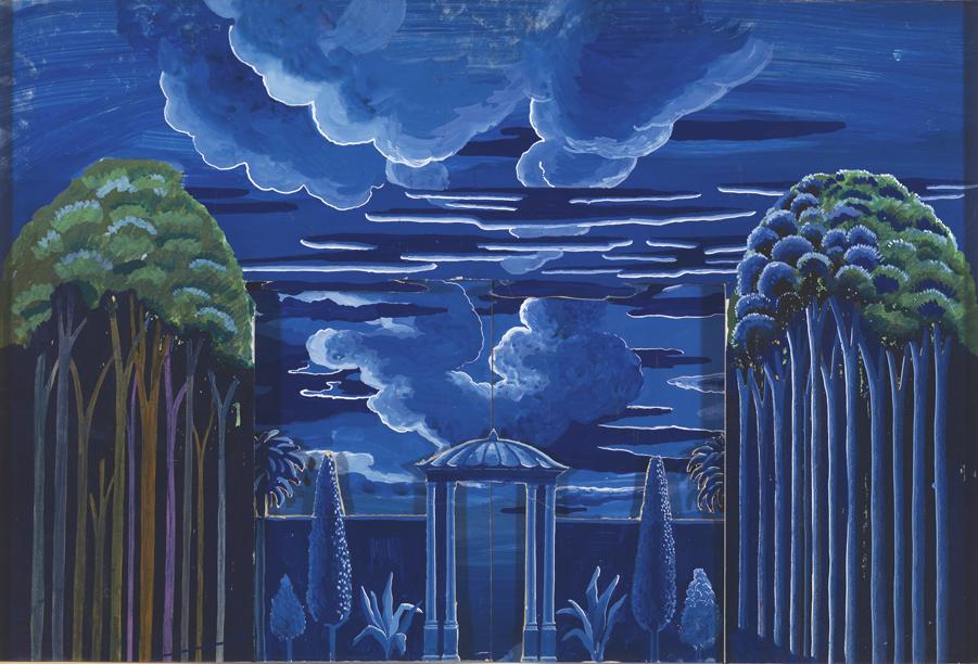 "Image of Act II, Scene III. A Moonlit Garden from ""The Magic Flute"", 1977"