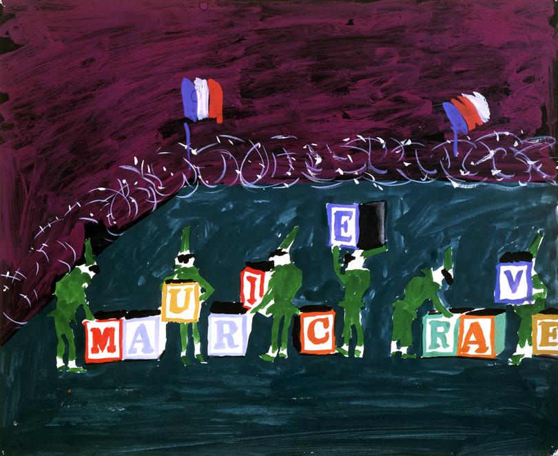 "Image of Punchinellos Changing Blocks from ""L'enfant et les sortilèges"", 1980"
