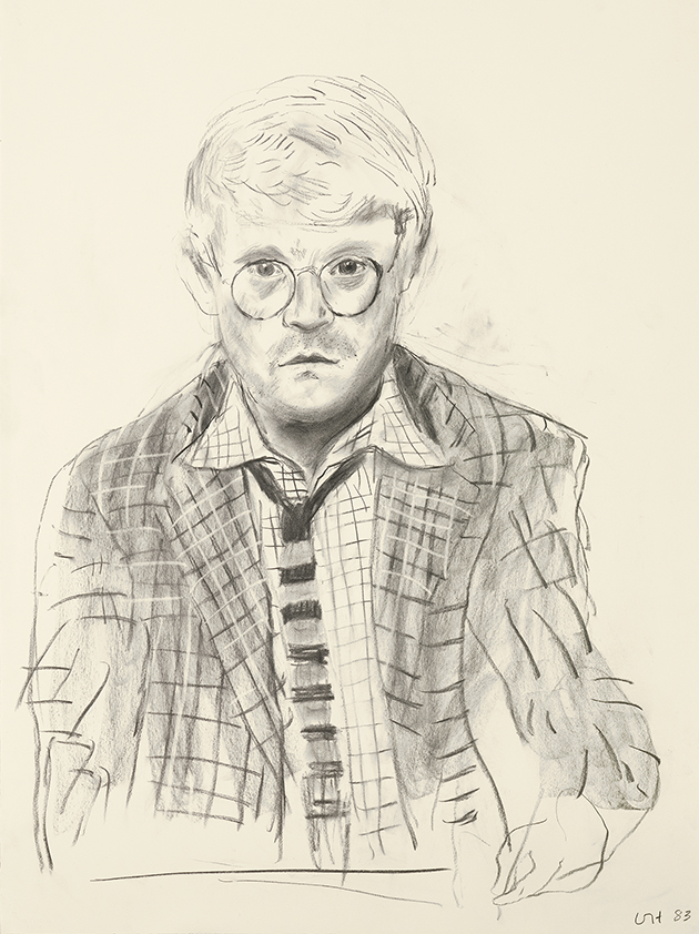 Image of Self Portrait with Check Jacket