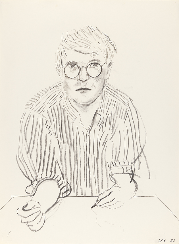 Image of Self Portrait with Striped Shirt