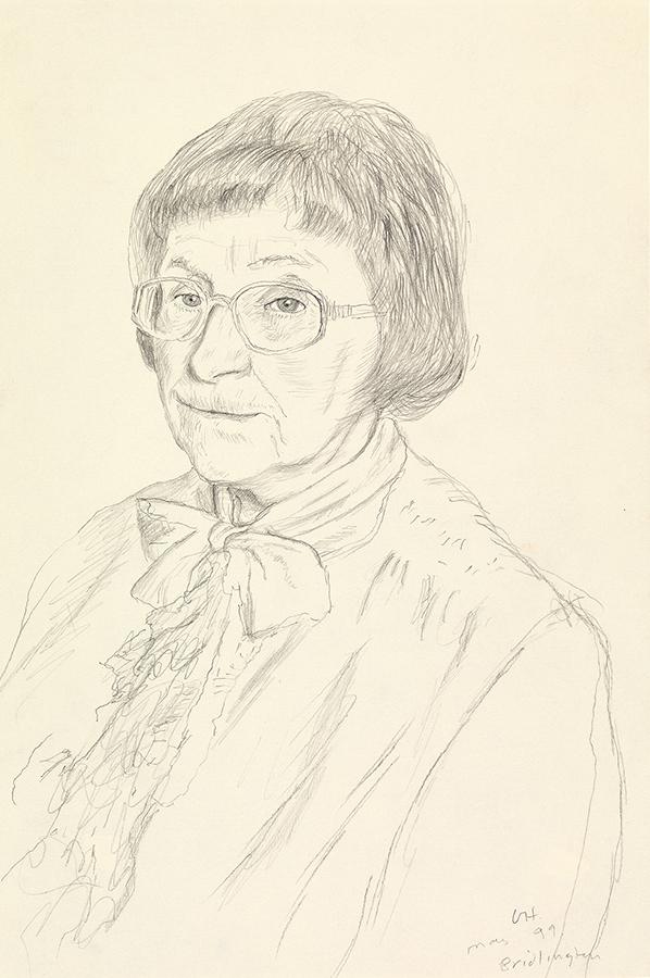 Image of Margaret Hockney. Bridlington. 16th May 1999