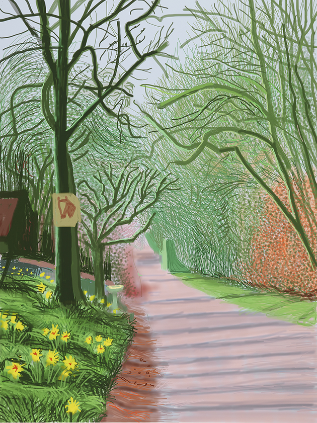 Image of The Arrival of Spring in Woldgate, East Yorkshire in 2011 (twenty eleven) - 25 March