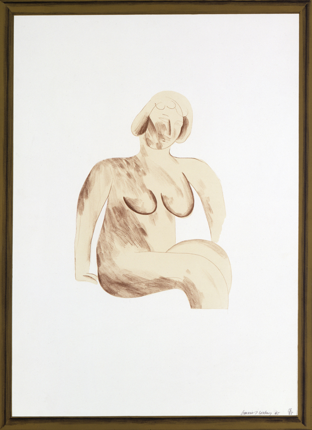 "Image of Picture of a Simple Framed Traditional Nude Drawing from ""A Hollywood Collection"""